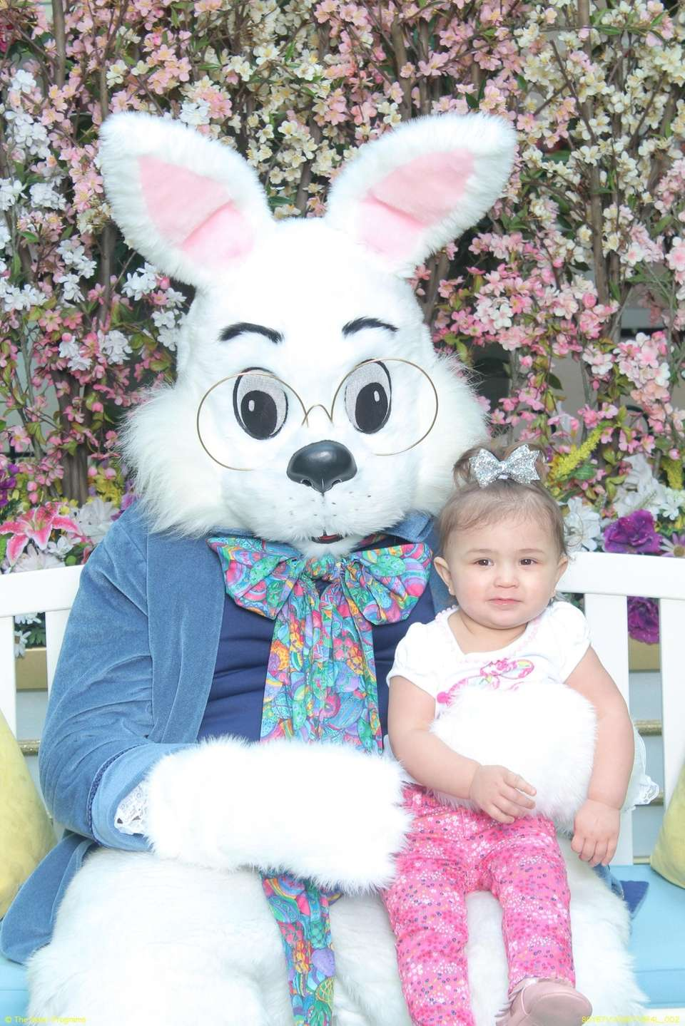 Angelica meeting the Easter Bunny at Roosevelt Field