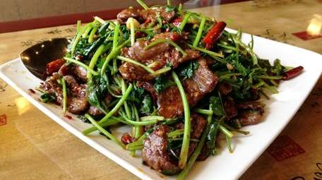 Cumin lamb is a specialty at Yao's Diner
