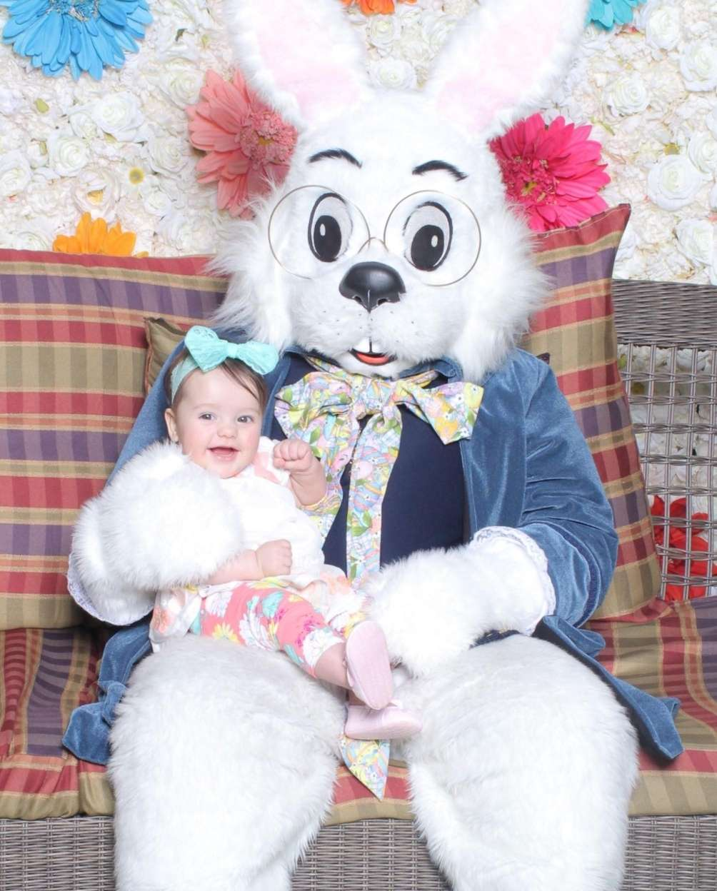 Laila loves the Easter Bunny!
