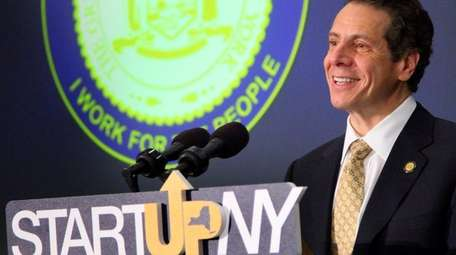Gov. Andrew M. Cuomo in Old Westbury on