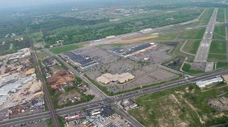 An aerial view of Republic Airport in East