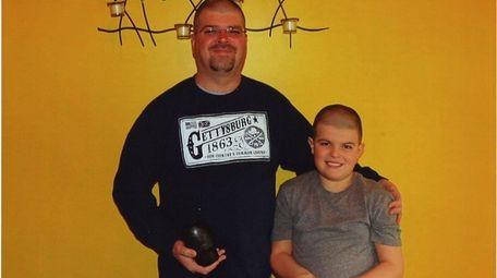 Kidsday reporter Kyle Wozniak and his dad Peter