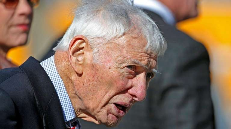 Pittsburgh Steelers chairman Dan Rooney stands on the