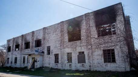 A fire in Copiague Monday damaged an abandoned