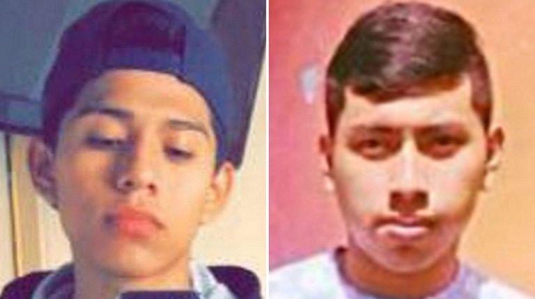 Relatives of Jorge Tigre, 18, left, of Bellport,