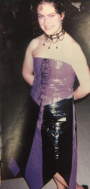 This student crafted her prom dress out of