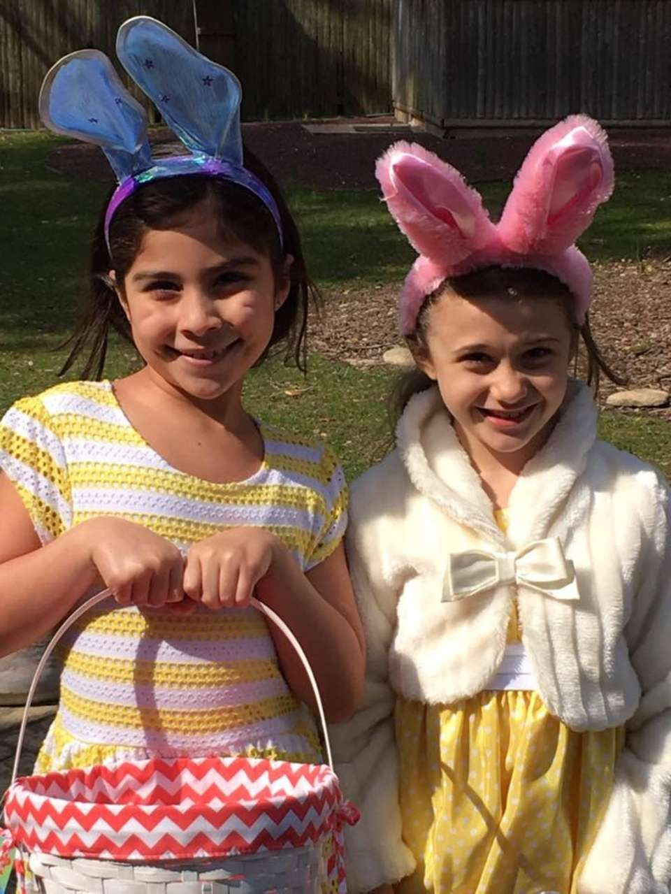 Friends Celebrating Easter! Laura and Claudessa