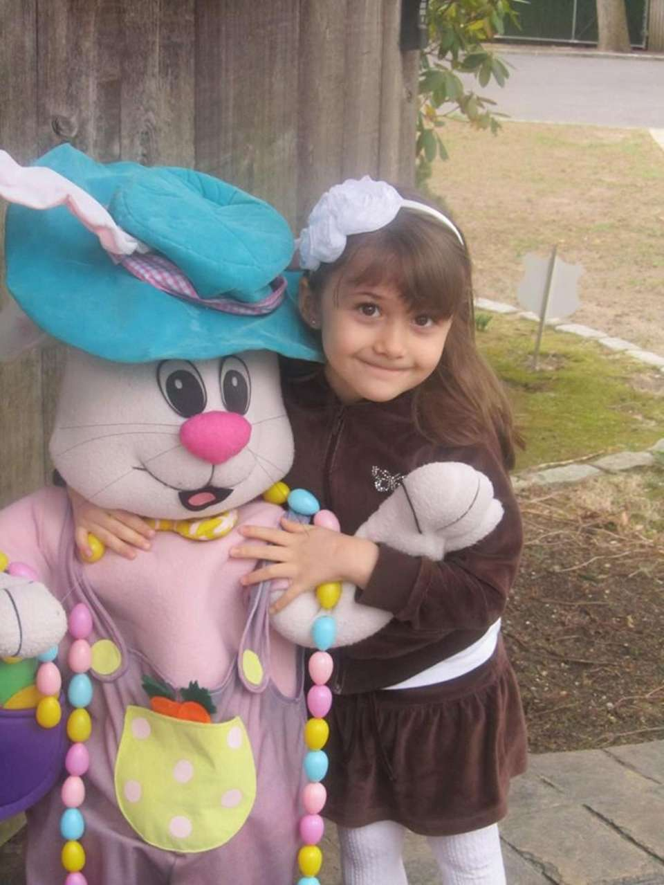 Laura with the Easter Bunny!