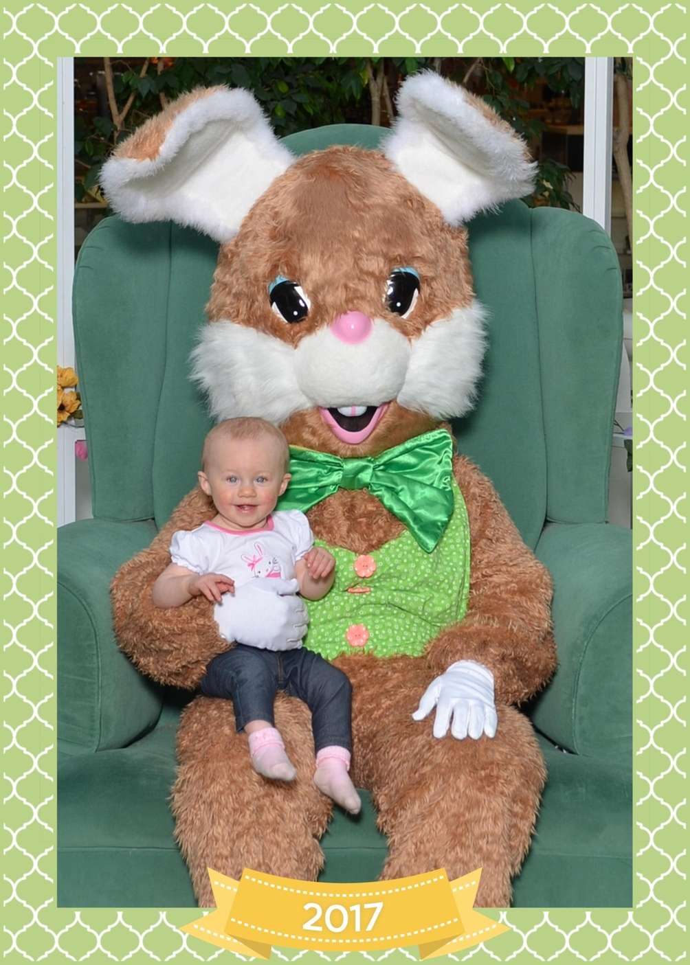 Trinity w her 1st Easter bunny