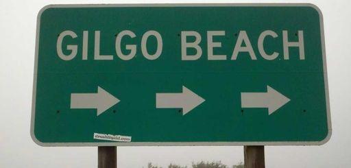 Gilgo beach sign.