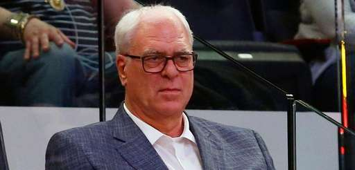 New York Knicks president Phil Jackson watches his