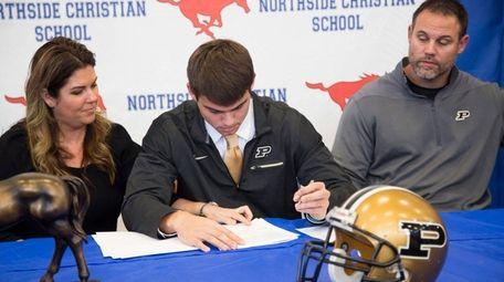 Northside Christian High School quarterback Griffin Alstott gets