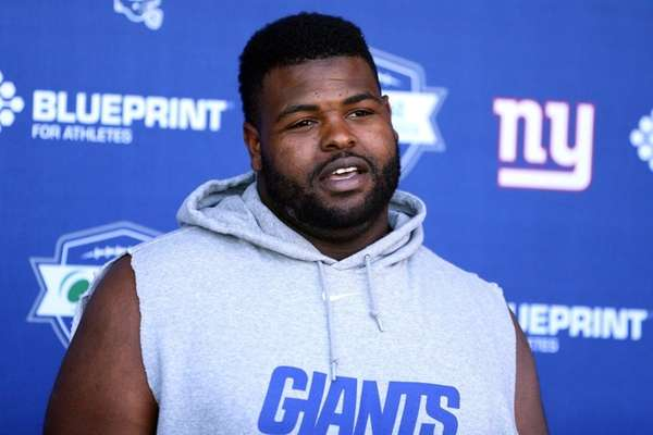 New York Giants defensive tackle Johnathan Hankins speaks
