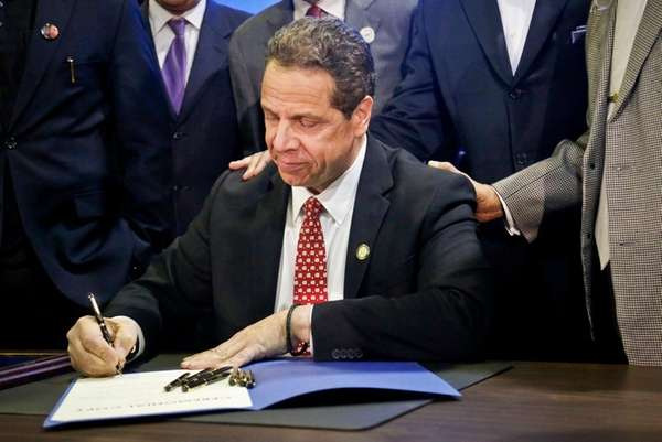 Gov. Andrew M. Cuomo signs new legislation for