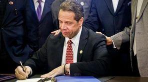 Gov. Andrew M. Cuomo signs new legislation for