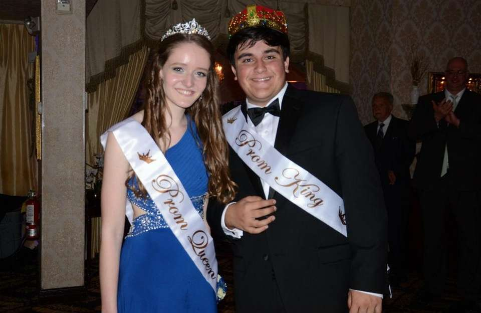George Flanagan and Kristy Alongis were crowned prom