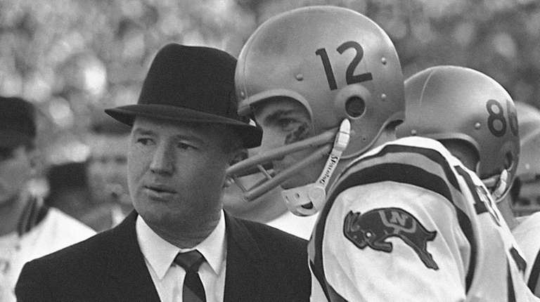Wayne Hardin with quarterback Roger Staubach in 1964.