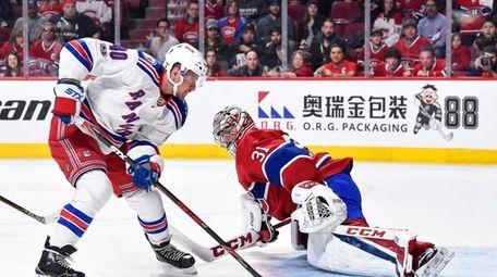 Michael Grabner, #40, of the New York Rangers