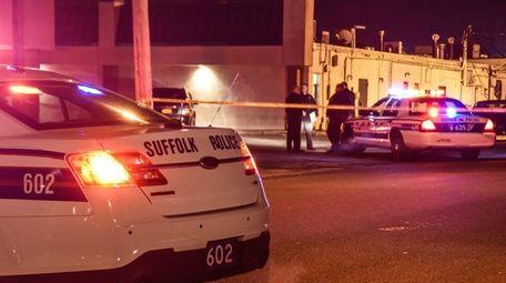 Police investigate the scene on Market Street in