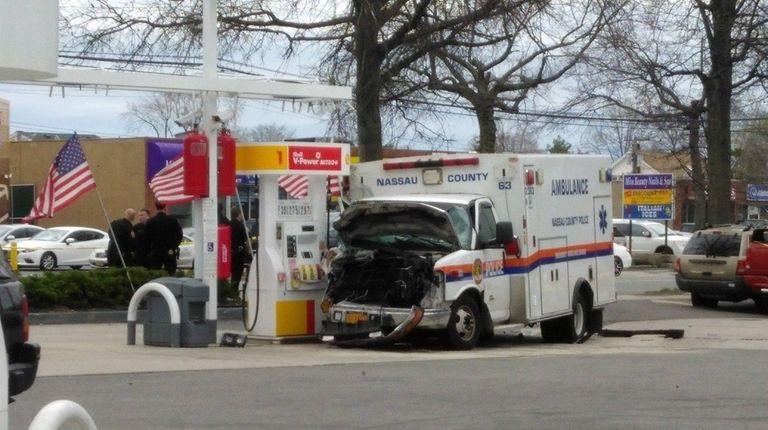 A police medic driving an ambulance was among