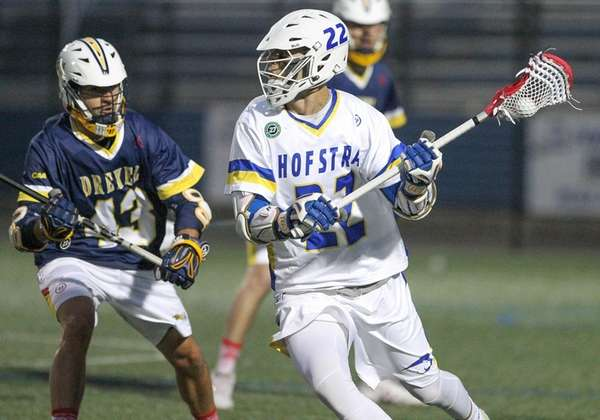 Hofstra's Josh Byrne looks to move the ball