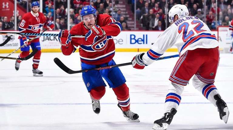 Brendan Gallagher, #11, of the Montreal Canadiens skates