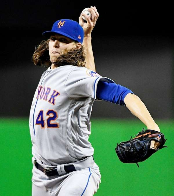Jacob deGrom, #48, of the New York Mets