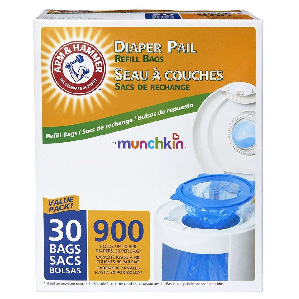 DETAILS: Fits all Munchkin diaper pails, one-handed use