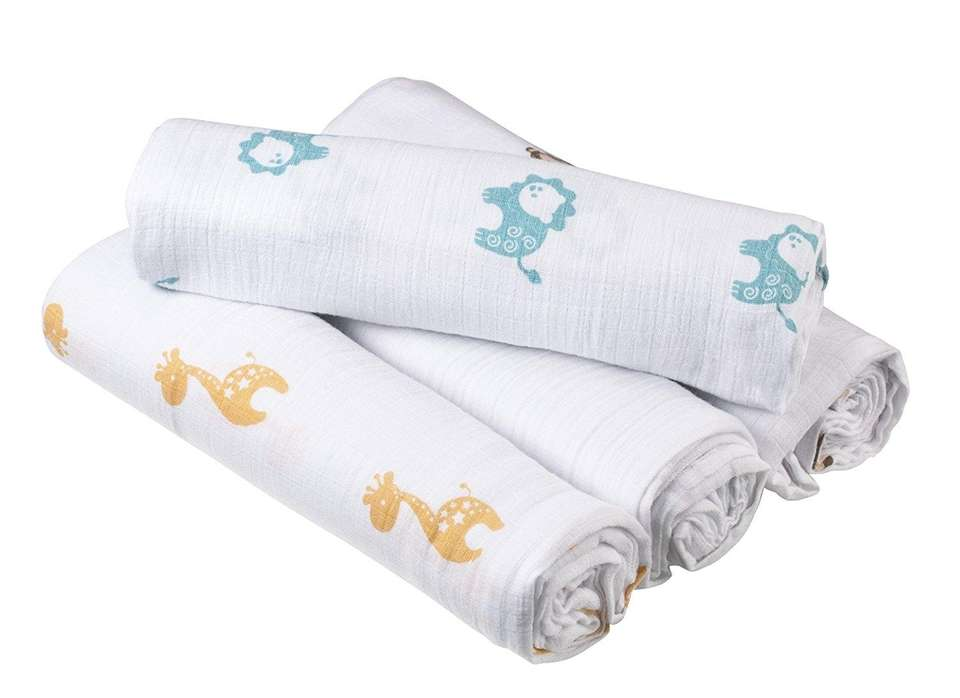 DETAILS: Softens with washings, multi-use (for nursing, changing