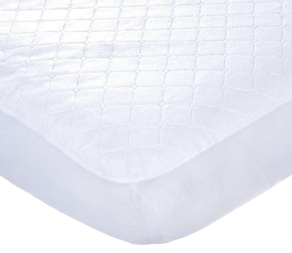 DETAILS: Waterproof, machine-washable, fits standard size crib mattress