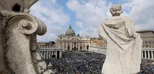 A view of St. Peter's Square during the