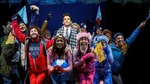 Andy Karl, center top, and the cast of