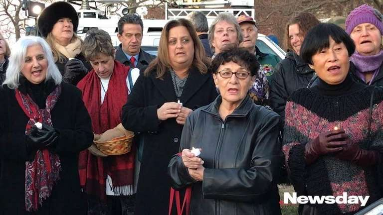 Sag Harbor residents held a candlelight gathering Tuesday,