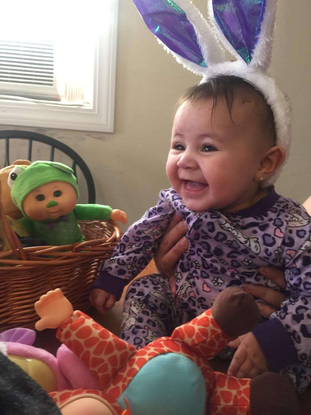 Happy Easter from Rosalie Rodriguez 5months old