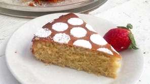 Finely ground almond flour gives this cake a