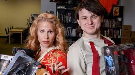 Cosplayers Cat Smith and Alex Boruff dress as