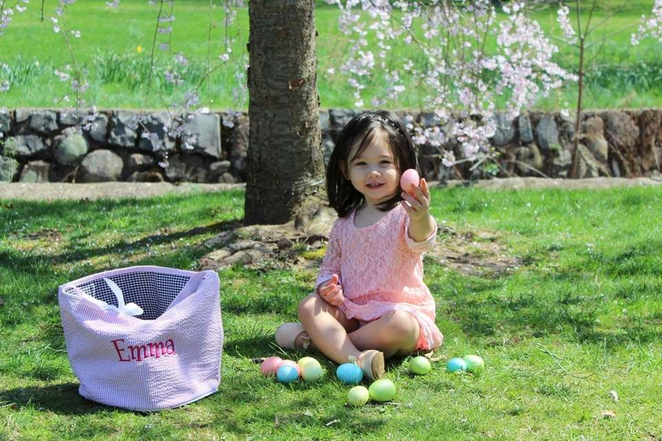 Emma Rose in Verona Park, celebrating Easter Sunday.