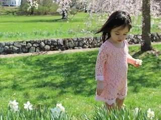 Emma Rose in Verona Park enjoying the beautiful