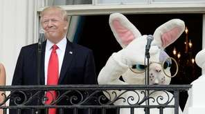President Donald Trump attends the annual Easter Egg
