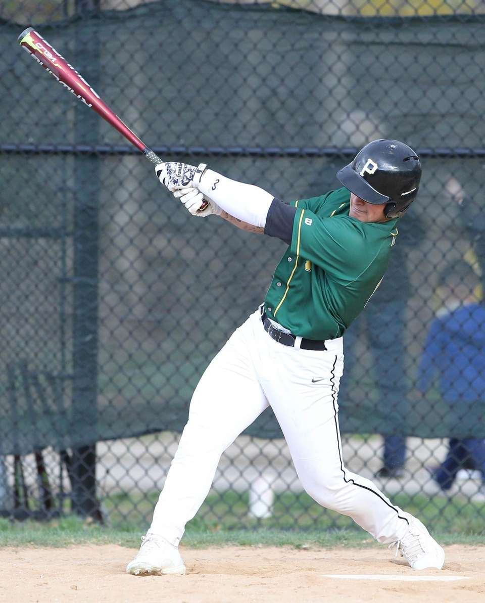 Ward Melville's Joseph Rosselli gets a base hit