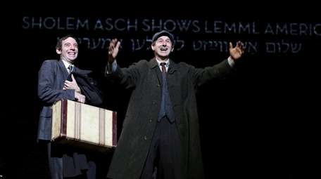 Max Gordon Moore, left, as Sholem Asch and