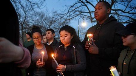 A vigil was held at Bellport High