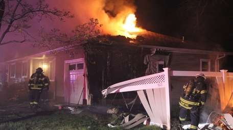 A fire damaged a home early Tuesday, April