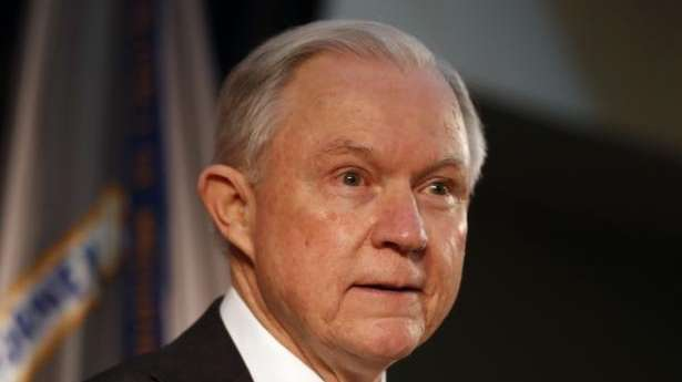 Attorney General Jeff Sessions speaks about crime to