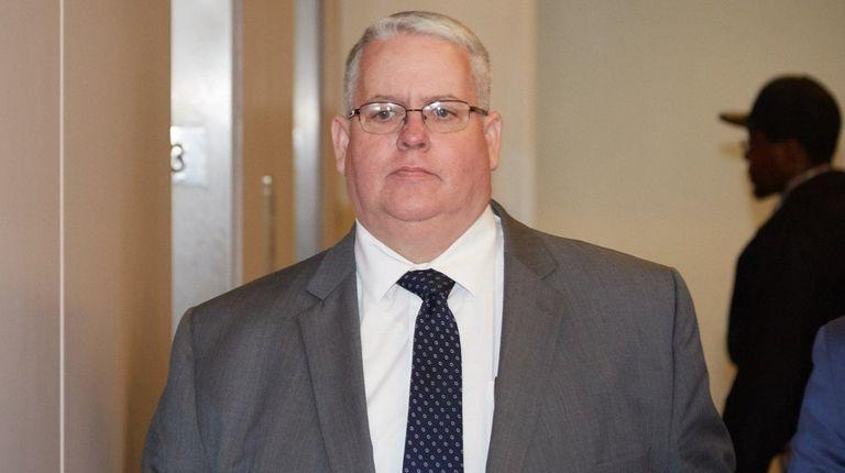 Former Islip Town official John J. Carney arrives