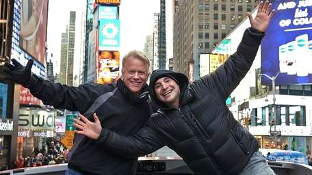 WFAN morning show hosts Boomer Esiason, left, and