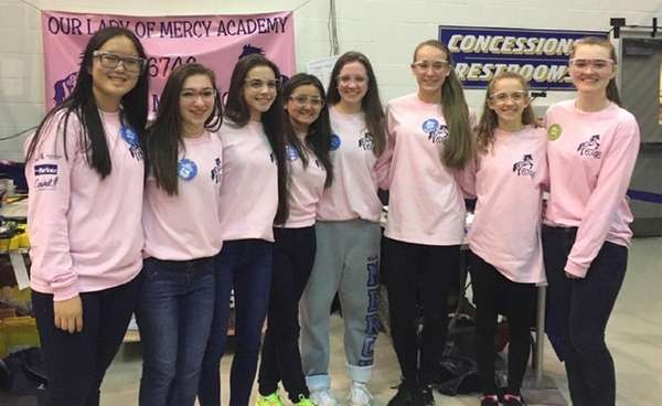 A team from Our Lady of Mercy Academy
