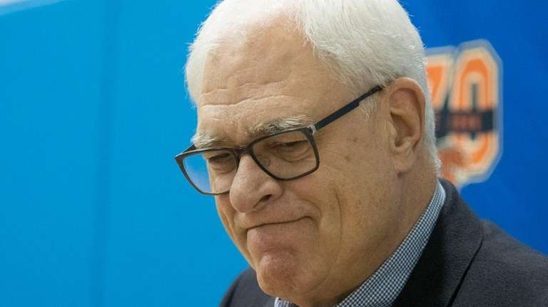 Knicks president Phil Jackson accepted blame for the
