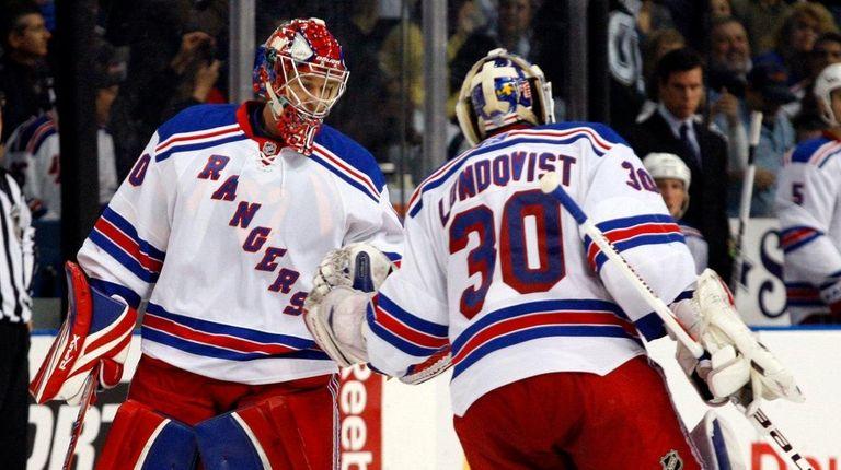 New York Rangers goalie Henrik Lundqvist (30), of