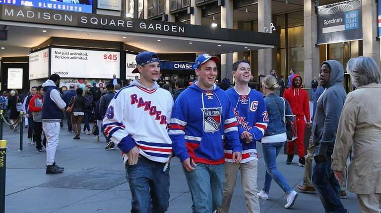 Fans arrive for the game between the Montreal